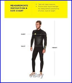 2018 Body Glove SIROKO 3/2 Slant Zip Full Surfing Wetsuit Blue 70113