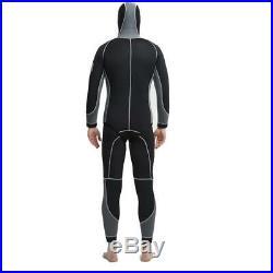 2Pcs Men Diving Suit 5MM Neoprene Full Body Scuba Wetsuit Surf Swimming Jumpsuit