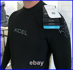 $300 NWT XCEL AXIS WETSUIT 4/3 STEAMER Mens sz MS Back Zip NEW FULL SUIT