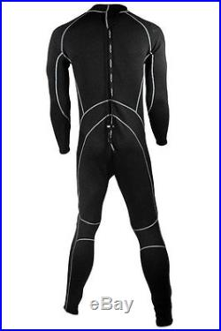 3/2mm Tilos Delphite Mens Full SuperStretch Titanium Wetsuit Skin Chest Jumpsuit
