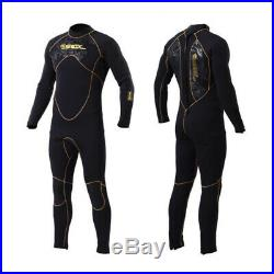 5mm Men Neoprene Wetsuit Surfing Diving Suit Full Body Diving Snorkeling Surfing