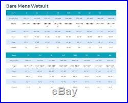 7/6mm Bare Velocity Full Progressive Stretch Scuba Diving Wetsuit Large/Tall LT
