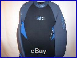 7/6mm Bare Velocity Full Progressive Stretch Scuba Diving Wetsuit Size 3XL XXXL