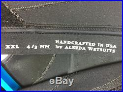 ALEEDA Full Wetsuit Men's Size XXL 43mm Black