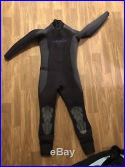 Akona 7mm Scuba Diving Wetsuit Quantum Stretch Full Suit Mens XL