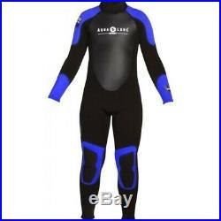 Aqua Lung Men's 3mm Quantum Stretch Full Suit, Black/Blue
