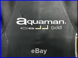 Aquaman Cell Gold Full Sleeved Triathlon Wetsuit Men's Large