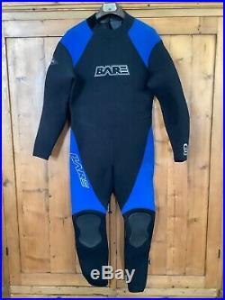 BARE 7mm Supra Arctic Full Cold Scuba Diving Wet Suit Men's Large