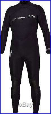 Bare 3/2mm Sport S-Flex Full Scuba Diving Wetsuit Men's Black