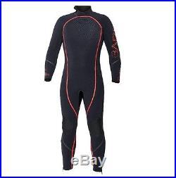 Bare 3mm Reactive Full Jumpsuit Wetsuit Mens Scuba Diving Dive 2XL-Short 2XLS