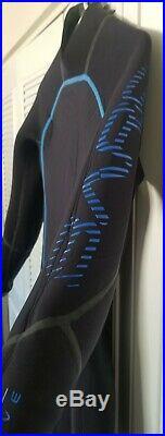 Bare 5mm Reactive Full Jumpsuit Wetsuit for Scuba Diving Snorkeling M Black/Blue