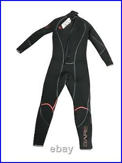 Bare 5mm Reactive Full Jumpsuit Wetsuit for Scuba Diving Snorkeling M Black/Red