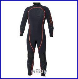 Bare 7mm Reactive Full Jumpsuit Mens Scuba Diving Dive Wetsuit Black/Red MEDIUM
