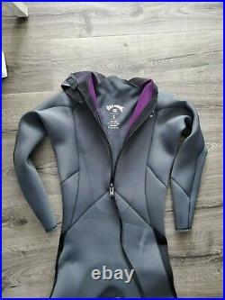 Billabong Men's Furnace 4/3mm Back Zip Full Wetsuit Grey