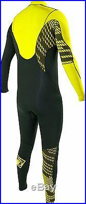 Body Glove Ct Men's Full Wetsuit 3/2mm Size Small Black/yellow New