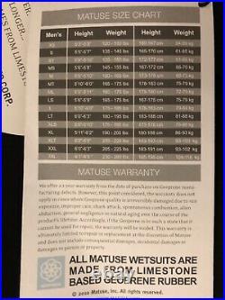 Brand New Matuse Wetsuit Hoplite 2MM Full Medium Tall MT Geoprene