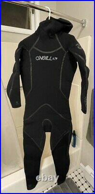Brand New O'Neill Men's Dive J-Type 7mm Back Zip Full Wetsuit with Hood Size LT