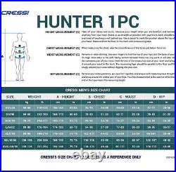 Cressi 2.5mm Hunter Blue Water Camouflage Spearfishing Full Wetsuit Mens Medium
