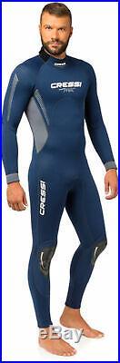 Cressi Men's Fast 3mm Backzip Neoprene Full Wetsuit