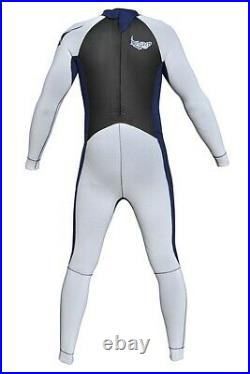 E-Stretch Material Emperor Mens 3/2mm Full Wetsuit White/Blue FREE SHIPPING