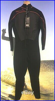Gul Mens Full Steamer Wetsuit 5/3mm Blindstitch Size ML, XL, XXL Black/Red SALE