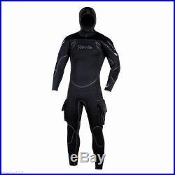 Hollis Neotek 8/7/6mm Semi-Dry Hooded Full Scuba Diving Wetsuit Men's SIZE M