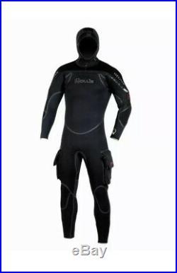 Hollis Neotek Hooded Full Scuba Diving Wetsuit Men's Medium Black NEW