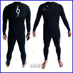 Hot surf 69 Mens 4/3 Front Zip Winter wetsuit Full Length Wetsuit Black 2021