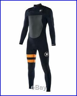 Hurley Men's Fusion 403 4/3mm Long Sleeve Full Wetsuit Black B (Size XS)