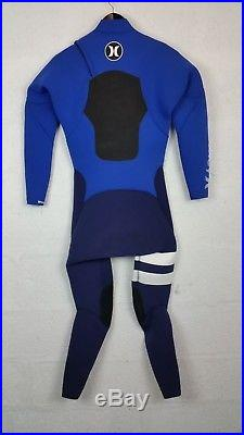 Hurley Return Wetsuit- Fusion 5/3mm ChestZip Full Suit Racing Blue Men's Size M