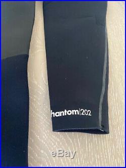 Hurley Surf Wetsuit Phantom 202 Black Size Medium Full Suit Thermal Mens