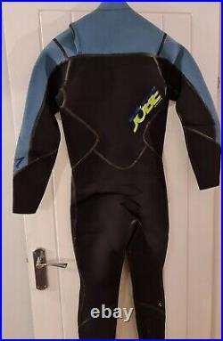 Jobe Mens Impress Steamer Flex 4/3mm. Front Zip. Full Wet Suit. M. Black/demin