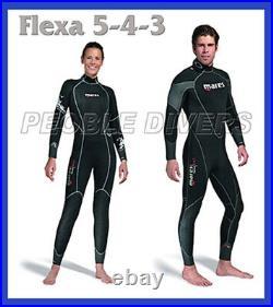 Mares Flexa 5-4-3 full Man Wet Suit 5mm core Back Zip Scuba water Size XI