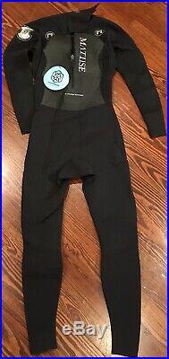 Matuse Mens M Full Wetsuit MT Hoplite 3/2 mm Geoprene Back Zip Black Wet Suit