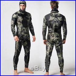 Men Two-piece Wetsuit Scuba Diving Suit Spearfishing Full Body Rash Guard XL