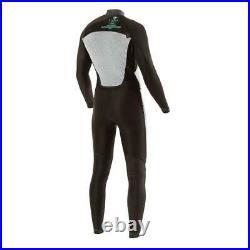Mens VISSLA 7 Seas 3/2 Full Suit Long Wetsuit Surfing Watersports Black