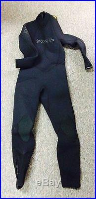 Mens Xcel Vortex Wetsuit 7/6/5mm Full Suit- Black- Size Large MG076505