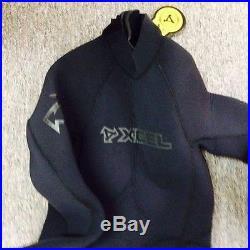 Mens Xcel Vortex Wetsuit 7/6/5mm Full Suit- Black- Size Medium MG076505