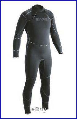 NEW 3MM BARE Men's Elastek Full Stretch SCUBA Diving Wetsuit X-LARGE Black XL