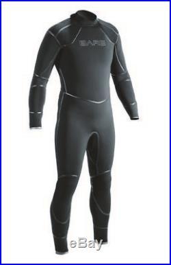 NEW 3MM BARE Mens Elastek Full Stretch SCUBA Diving Wetsuit Size MD Black