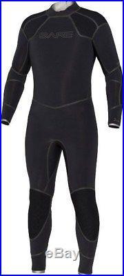 NEW 3MM BARE Mens Elastek Full Stretch SCUBA Diving Wetsuit Size XL Black Dive