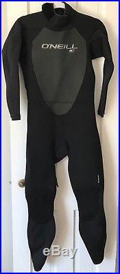 NEW O'Neill Men's Epic 4/3mm Back Zip Full Wetsuit Size Medium Short