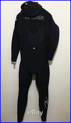 NEW Rip Curl Mens Full Wetsuit Size XLS E-Bomb Hooded 5.5/4.5 CZ Retail $350