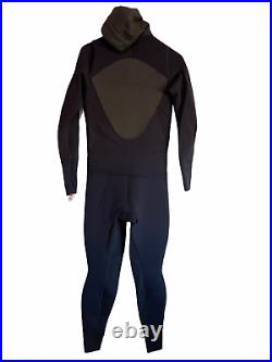 NEW Rip Curl Mens Full Wetsuit Size XL Hooded Ultimate Elasto 5/4/3 Zip-Free