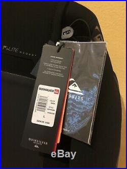 NWT $235 QUIKSILVER Men's 5/4/3mm SYNCRO + CZ LFS HD Hooded Full Wetsuit L