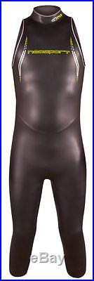 NeoSport Mens NRG Triathlon 5/3mm Full Sleeveless Swimming Wetsuit