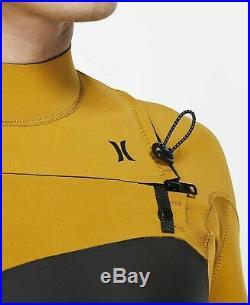 New $250 Men's Hurley Advantage Plus Wetsuit 3/2mm Full Suit Gold/Black XL