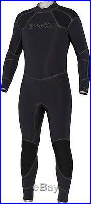 New 5mm Bare Mens Elastek Full Stretch Scuba Diving Wetsuit Size 3xl Blk XXXL