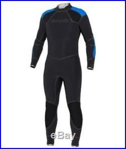 New 5mm Bare Mens Elastek Full Stretch Scuba Diving Wetsuit Size ML Blue