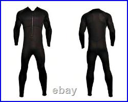New Chest Zip Zipper 4/3 Wetsuit Black Full Body Vertical Front Zip Surf Scuba